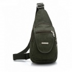 Shenxilu 2045# Fashionable Men's Casual Nylon Shoulder Bag - Army Green