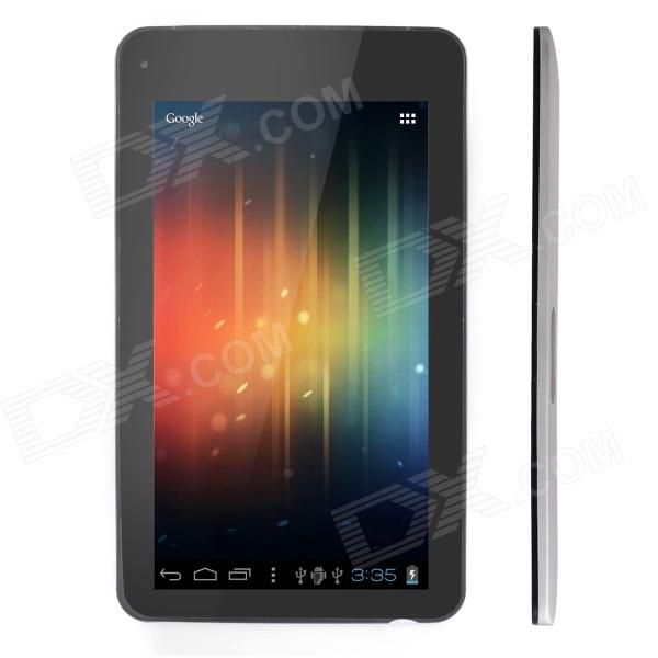 "THTF E610 (Lanfeng Version) 7 ""Android 4.0 Tablet PC med 512 MB RAM, 4 GB ROM - Svart + Silver"