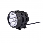 FandyFire F-L2 3-Mode 4000LM White Bikelight / Headlamp w/ 7 x CREE XM-L2 T6 - Black (4 x 18650)