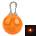 LED Orange Light Clip-on Pet Safety Lamp Keychain