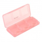CHEERLINK 6-in-1 Game Memory Card Storage Case for Nintendo 3DS - Translucent Pink