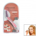 Multifunctional Electric Eyebrow Shaping Knife / Shaver - Red + Silver (1 x AAA)