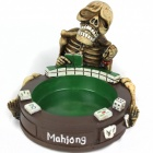 Resin Gambling Skeleton Ashtray - Multi-colored