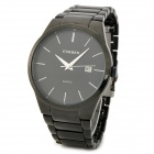 Curren 8106 Simple Men's Tungsten Steel Quartz Watch w/ Calendar - Black (1 x 626)