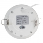 "WUS-THD-Y-2835 4W 320lm 6500K 20-SMD 2835 LED White Light 3"" Circular Ceiling Lamp - (AC 85~265V)"