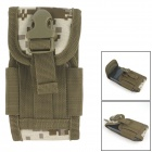 Water Resistant Tactical Outdoor Nylon Mobile Phone Bag for Samsung / Iphone - Camouflage