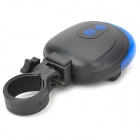 SL-116 Shell Shaped 7-Mode 5-LED Bike Laser Tail Lamp - Blue + Black