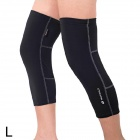 NUCKILY KE002 Cycling Sunscreen Warm Knee Supports - Black (Size L / Pair)