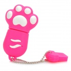 Mini Cartoon Cat Footprints Style USB 2.0 Flash Drive - Deep Pink + White (8GB)