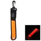 Bicycle Cycling LED Flashing Red Light Two Mode Warning Stripe  - Orange + Black