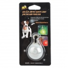 LED White Light Clip-on Pet Safety Lamp Keychain - White