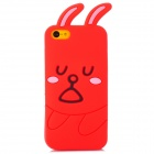 3D Cartoon Rabbit Style Protective Silicone Case for iPhone 5c - Red + Black + Pink