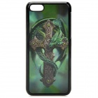 3D Dragon Pattern Protective ABS+PC Back Case for Iphone 5C - Green + Grey + Black
