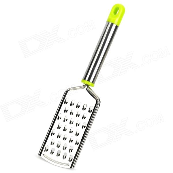 Kitchen Tool Stainless Steel Grater - Silver + Green silver color stainless steel adjustable kitchen bathroom office furniture cabinet shelves legs feets pack of 4 50x180mm
