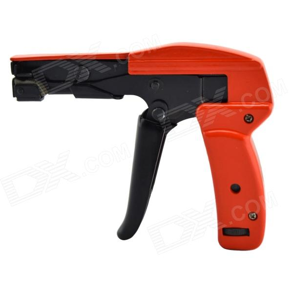 KB-1218 Handheld Cable Tie Tool Fastening & Cutting Function Cable Tie Gun - Black + Orange steel nails 18 to 64mm air stapler gun pneumatic st64c nailer gun woodworking tool