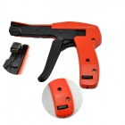 Handheld Cable Tie Tool Fastening & Cutting Function Cable Tie Gun - Black + Orange