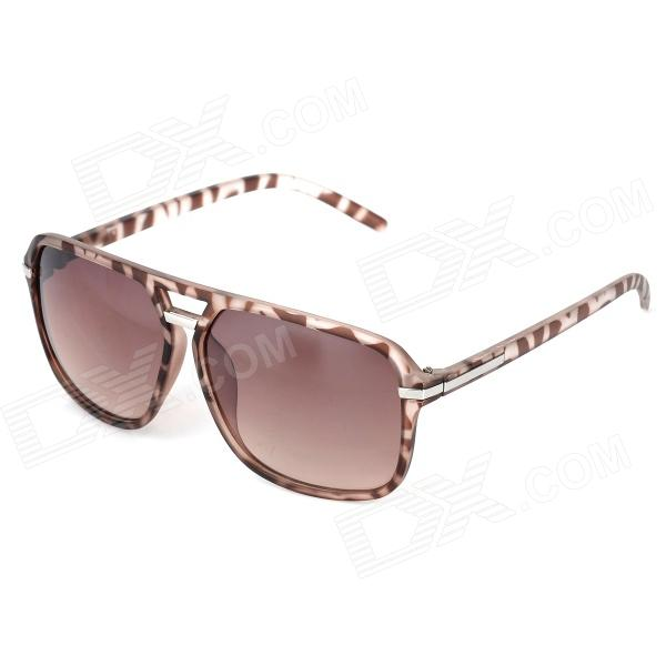 Fashion Resin Lens UV400 Protection Sunglasses - Brown fashion uv400 protection round shape resin lens sunglasses wine red