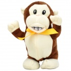 LiuYuan Voice Recording and Walking Plush Monkey Toy - Brown (3 x AAA)