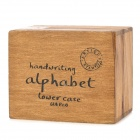 Alphabet Number Pattern Wooden Stamp Set