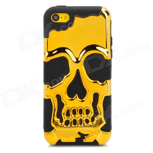 3D Skeleton Protective Silicone + TPU Back Case for Iphone 5C - Golden + BlackTPU Cases<br>Brand N/A Quantity 1 Piece Color Golden + Black Material Silicone + TPU Type Back Cases Compatible Models Iphone 5C Other Features Detachable Packing List 1 x Case<br>