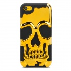 3D Skeleton Protective Silicone + TPU Back Case for Iphone 5C - Golden + Black