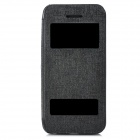 Protective Flip Open Fall w / Dual Windows for Iphone 5S - Schwarz