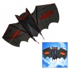 Cartoon Bat Style Kite w/ Grip Wheel + String - Orange + Black