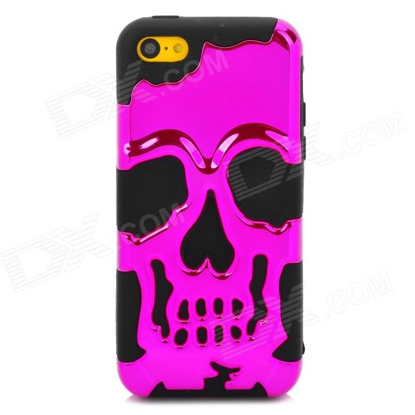 3D Skeleton Protective Silicone + TPU Back Case for Iphone 5C - Purplish Red + Black игрушки
