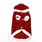 Christmas Dress Pet Clothes for Dog - Red + White (Size-L)