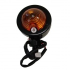 exLED DIY Retro 2W 112lm 1-LED Yellow Light Motorcycle Turning Lamps - Black + Orange (12V / 2 PCS)