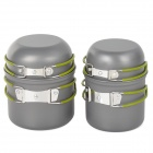 Ryder M1024 Outdoor Camping Cookware Aluminium Alloy Pot - Grey