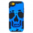 3D Skeleton Protective Silicone + TPU Back Case for Iphone 5C - Deep Blue + Black
