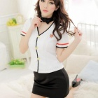 Stewardess Sexy Female Police Uniforms - Black