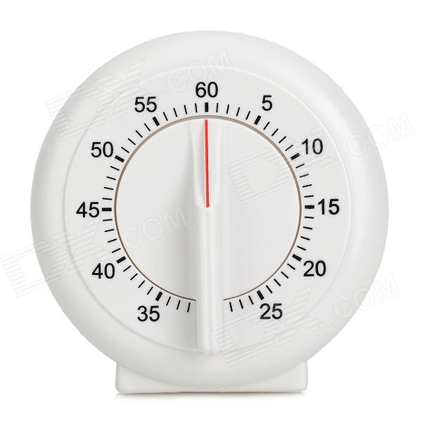 ABS Plastic Round Timer - White the white guard