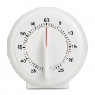 ABS Plastic Round Timer - Branco