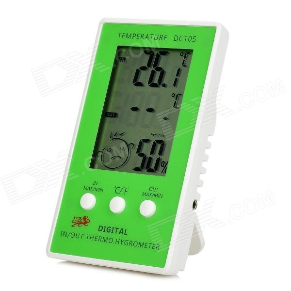 DC105 2.3 LCD Digital Hygrometer / Thermometer (1 x AAA) mini digital lcd thermometer humidity meter gauge hygrometer indoor