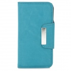 Protective PU Leather Flip Case for Iphone 4 / 4S - Dark Blue