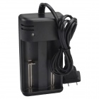 SingFire US-DC5 Universal Double Groove Intelligent Rapid AC Power Charger Adapter - Black (US Plug)