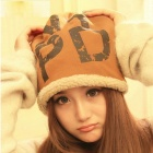 Korean Version of The Letters NYPD Winter Day Millinery Hat Cap - Brown