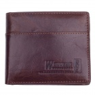 WEIJUESHI 23818W Vogue PU Leather Folding Men's Wallet - Brown