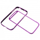 Zomgo Protective Aluminum Alloy Bumper Frame for Samsung Galaxy S4 i9500 - Purple