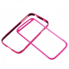 Zomgo Protective Aluminum Alloy Bumper Frame for Samsung Galaxy S4 i9500 - Deep Pink