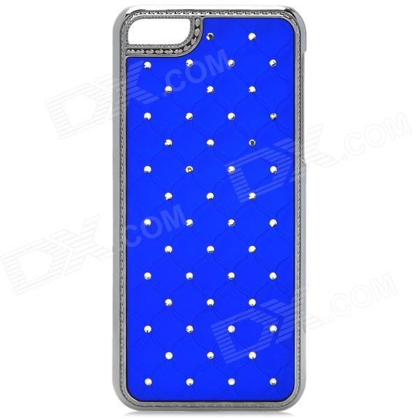 Stylish Rhinestone Plastic Back Case for Iphone 5C - Blue + Silver top lcd iphone 5c