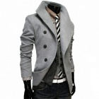 VSKA 5627P110 Stylish Men's Slim Fit Coat - Dark Grey (Size-XL)