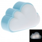 Cloud Optically-Controlled 0.5W 10lm 4100K White Light Night Lamp - (2-Flat-Pin Plug / 220V)