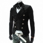 X311 Stylish Men's Slim Fit Coat - Black (Size-XL)