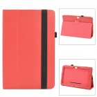 Lichee Pattern Protective PU Case w/ Stand for Microsoft Surface PRO - Red
