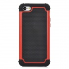Detachable 2-in-1 Protective Silicone + TPU Back Case for iPhone 5c - Red + Black