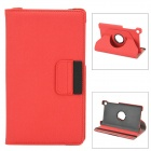 360 Degree Rotating Protective PU Case w/ Card Slots for Google Nexus 7 II - Red + Black