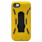 Protective Silicone + TPU Back Case w/ Stand for Iphone 5C - Yellow + Black
